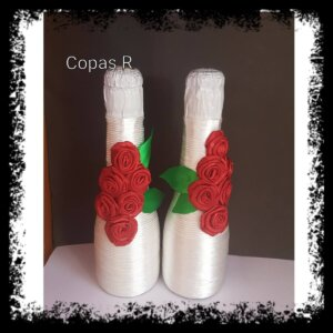 botellas decoradas a mano