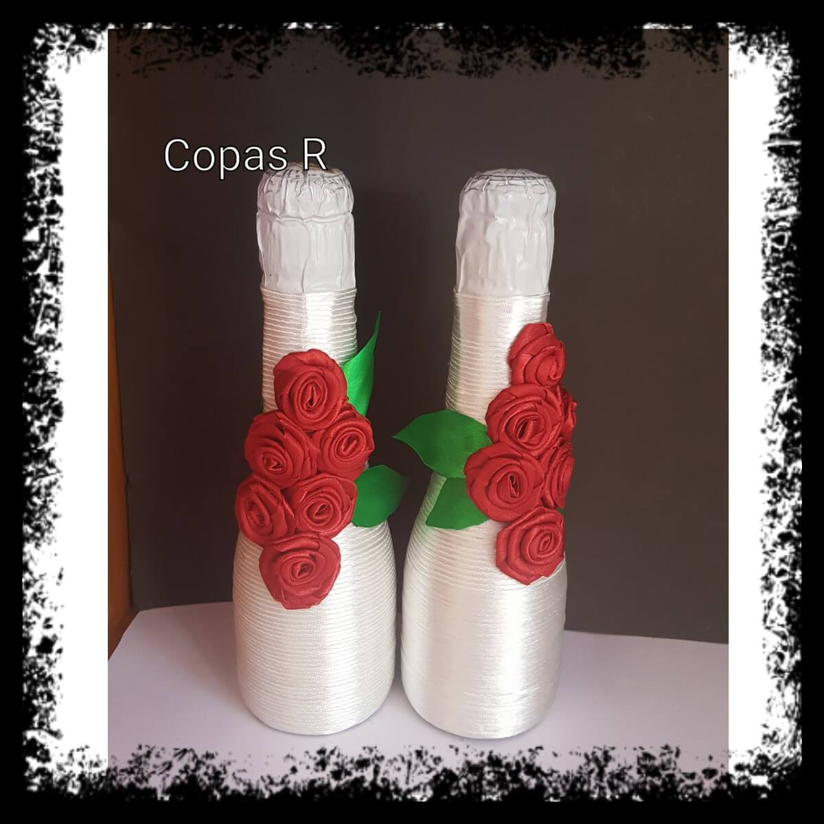 Botellas decoradas a mano for Copas decoradas a mano