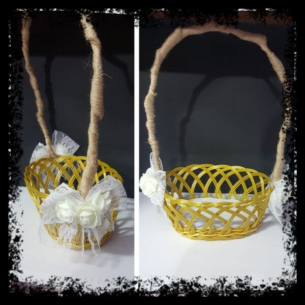 cestas petalos boda