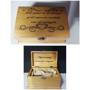 Cajas de madera para libro de firmas batas personalizadas novia - Caja de madera para libro de firmas 300x300 - Página de inicio
