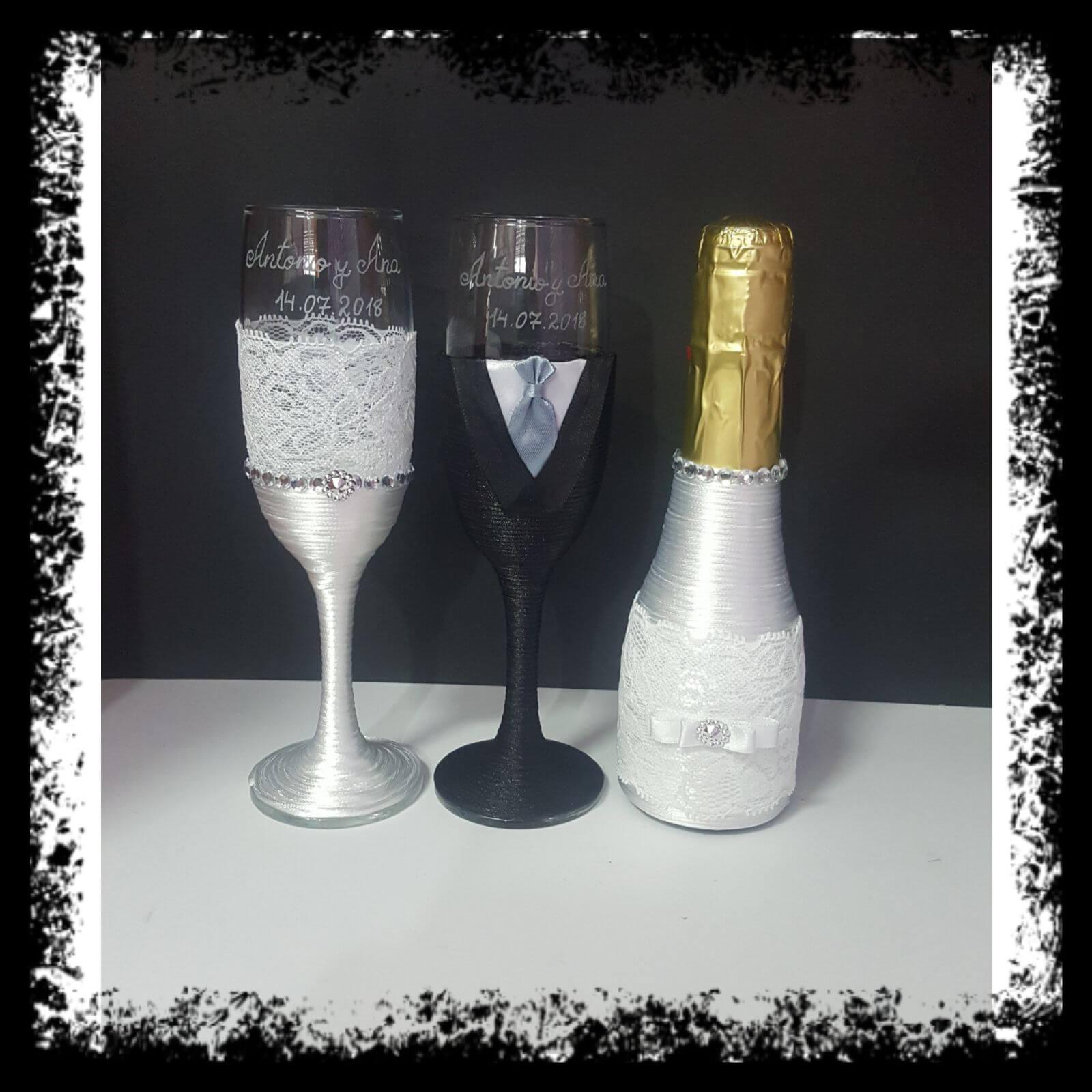 botellas decoradas a mano