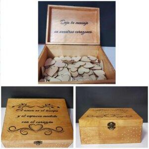 Caja de madera para libro de firmas