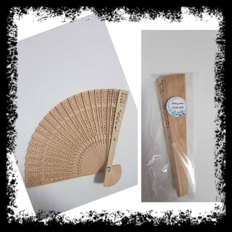 abanicos de madera personalizados