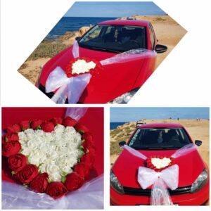 Arreglo floral para el coche batas personalizadas novia - arreglo floral para coche de novios 1 300x300 - Página de inicio