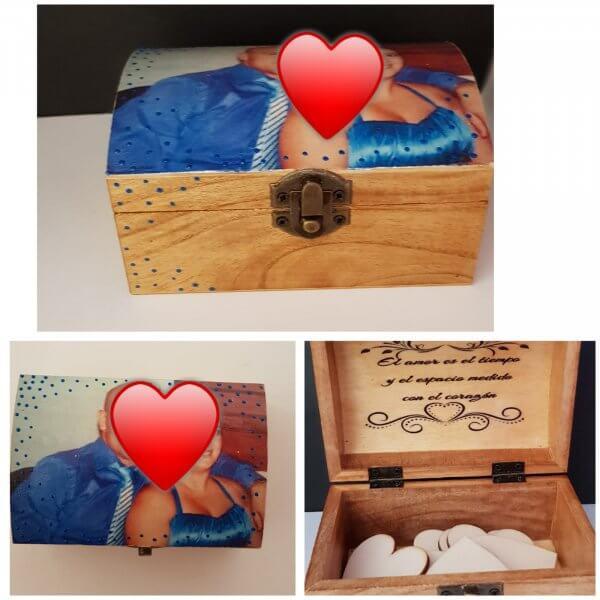 Caja de madera para libro de firmas 2