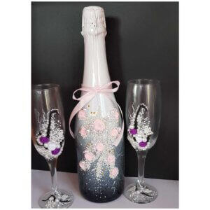 botellas decoradas Detalles de Boda