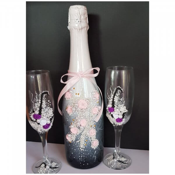 botellas decoradas Detalles de Boda