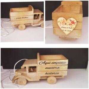 Camion de madera para arras y alianzas batas personalizadas novia - camion de madera para arras  300x300 - Página de inicio