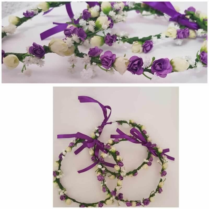 coronas de flores hechas a mano