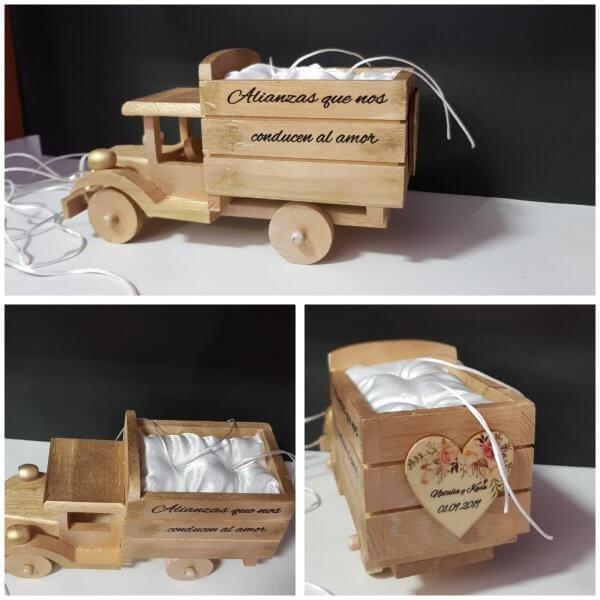 camion de madera para arras