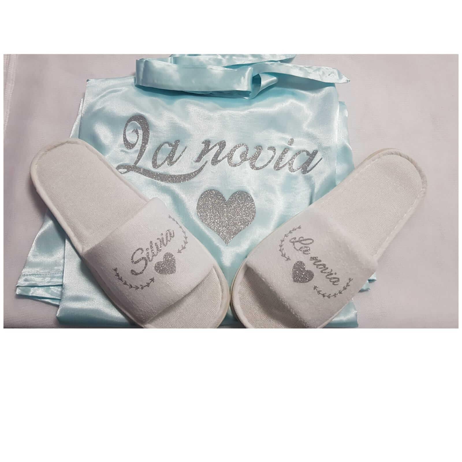 bata personalizada bata personalizada - Batas Personalizadas Batas Personalizadas novia 1 1 - Bata personalizada y Zapatillas personalizadas