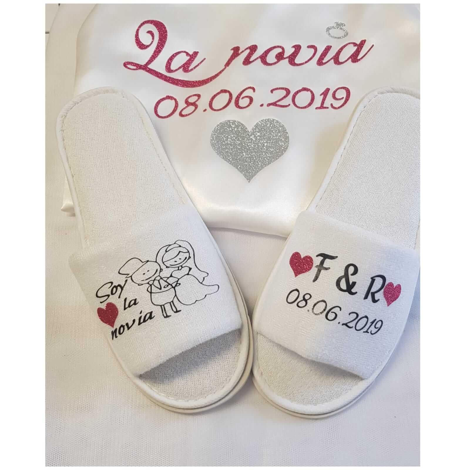 zapatillas personalizadas novia boda zapatillas personalizadas novia - zapatillas personalizadas novia boda 1 - Bata personalizada y Zapatillas personalizadas
