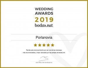 batas de novia - Diploma Wedding Awards 2019 300x232 - Batas de novia personalizadas –  Ligas de novia –  Regalos originales