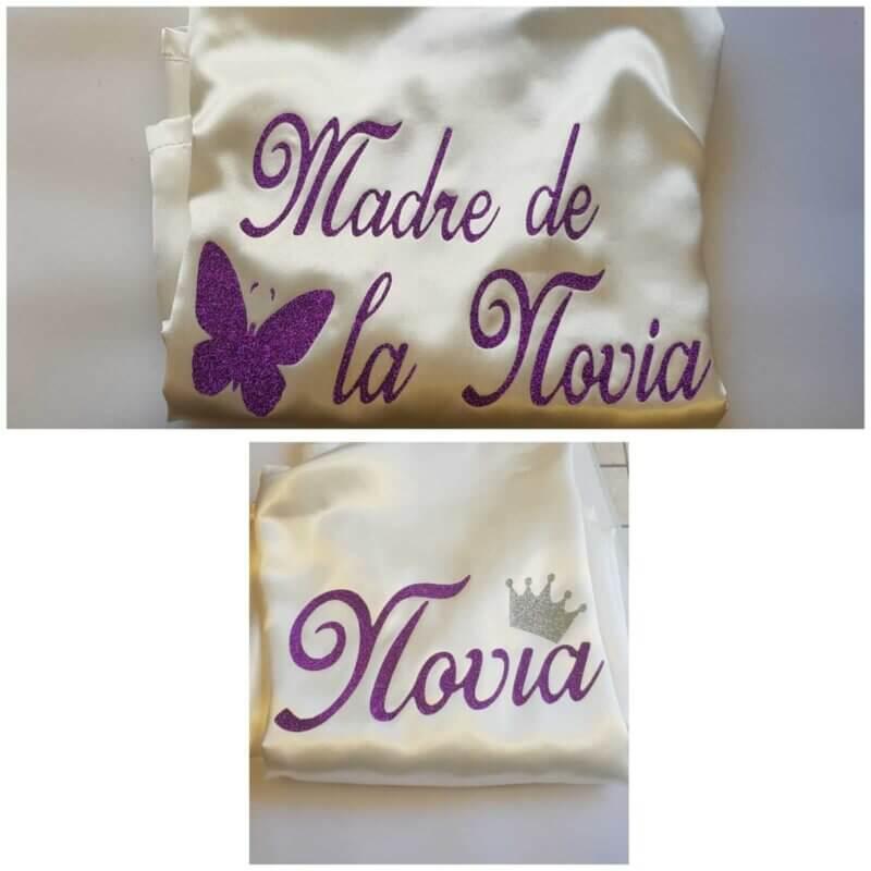 Batas Personalizadas novia batas damas de honor bata madre de la novia