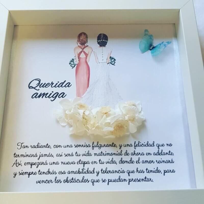 Cuadro decorado con una preciosa mariposa