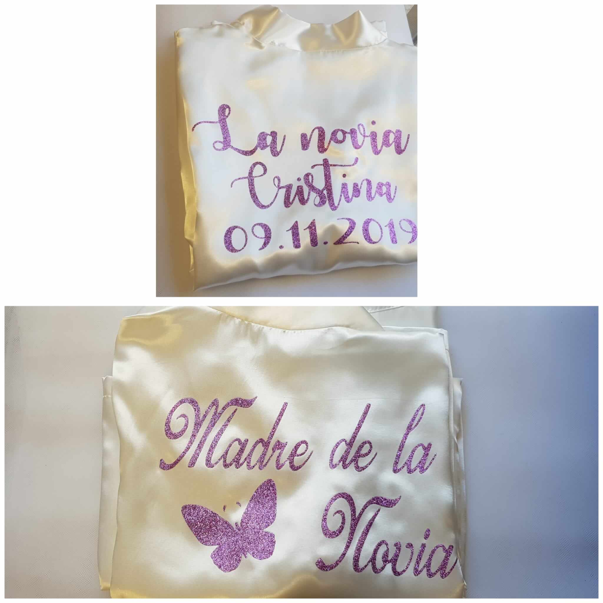 Batas de novia Bata de novia Batas personalizadas