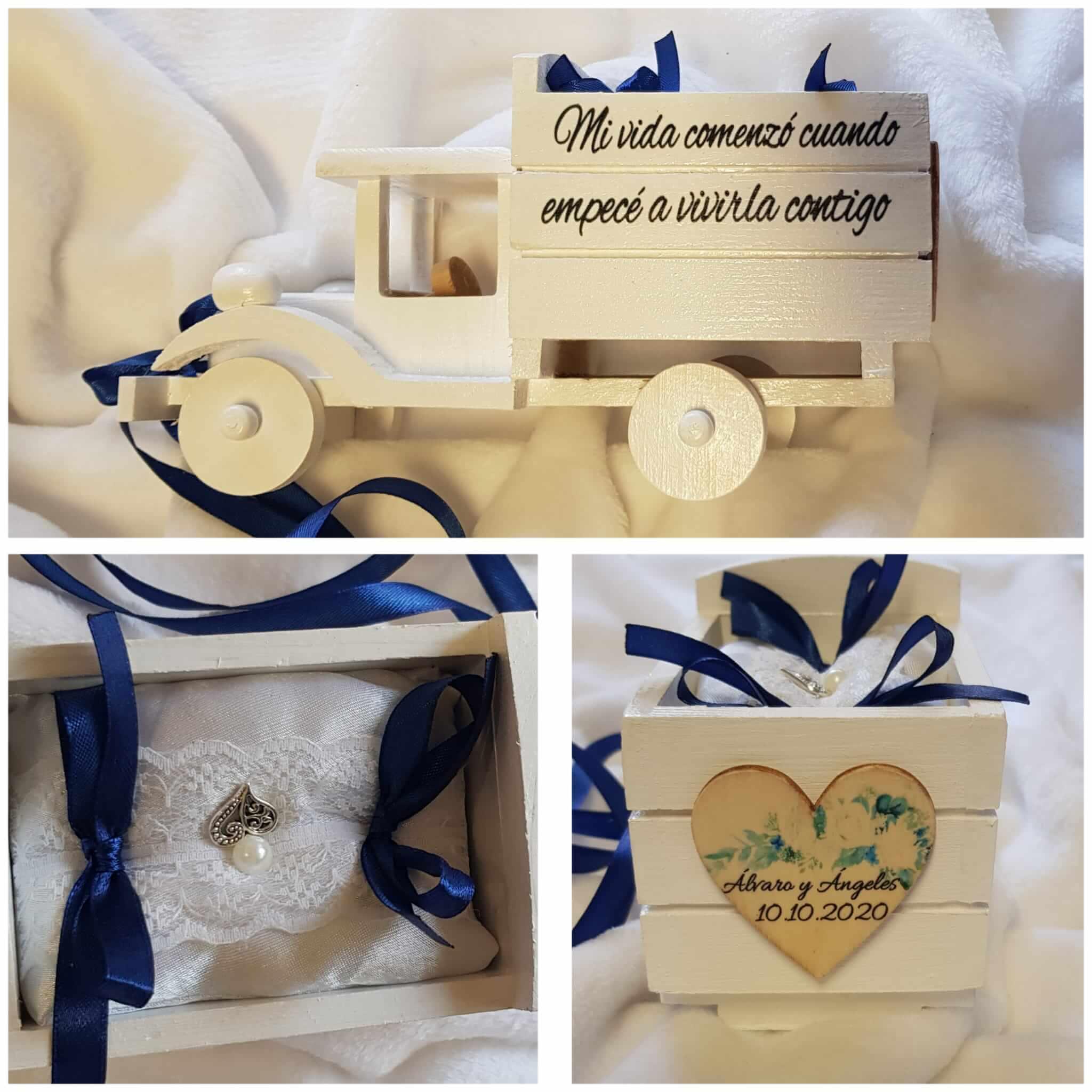 camion de madera porta alianzas camión porta alianzas detalles boda