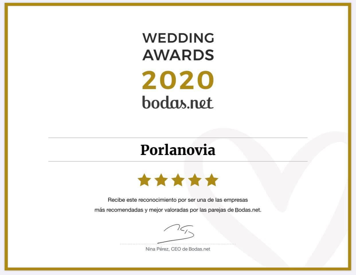 premio bodas net 2020