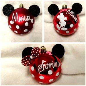 Bolas de navidad personalizadasBola de Navidad Mickey o Minnie
