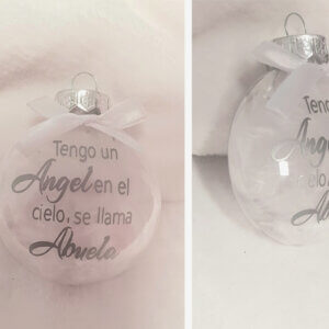 Bolas de navidad planas personalizadas