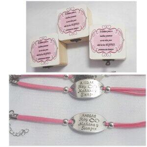 caja personalizada con pulsera personalizada